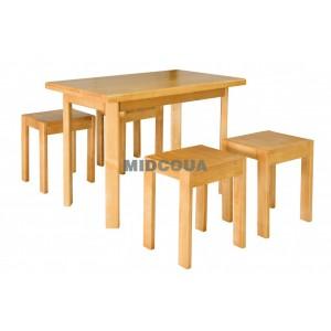 Стол и табуретки Олимп